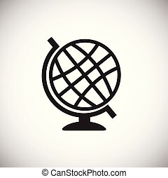 School globe on white background for web or app using