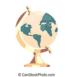 school globe on white background