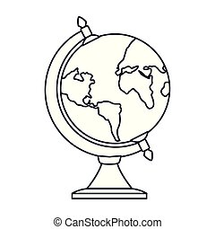 school globe on white background