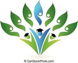 School graduates icon vector