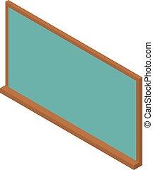 School green board icon, isometric style