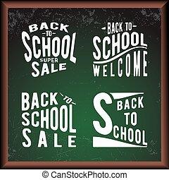 School green chalkboard