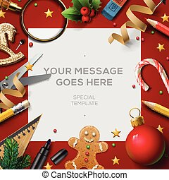School holidays, Christmas break poster