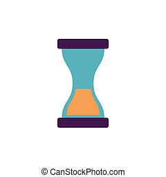 school hourglass flat style icon