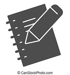 school, houten, blad, stijl, pocketbook, pictogram, boek, ...
