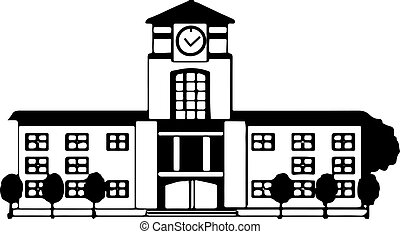 school icon on white background