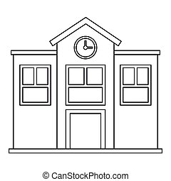School icon, outline style