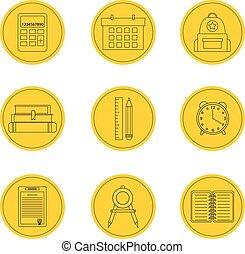 School icon set. Vector Illustration icons