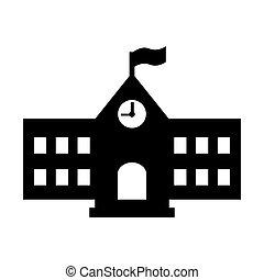 School icon. Vector illustration.