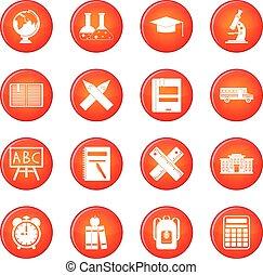 School icons vector set