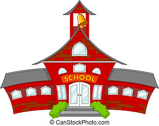 School - Illustration of cartoon school building