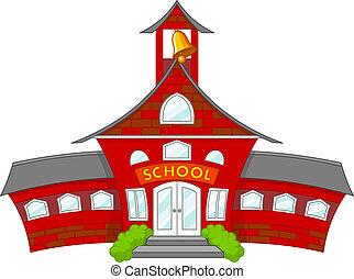 School - Illustration of cartoon school building