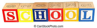 School in Alphabet Blocks