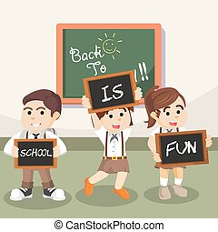 school is fun illustration design