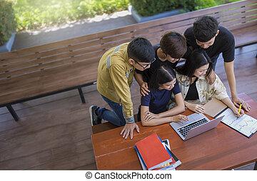 school, kennis, universiteit, back, het onderwijs van de universiteit