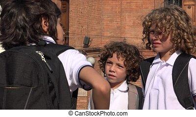 School Kids Having A Conversation
