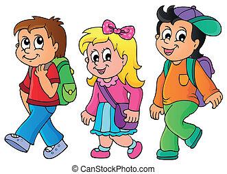 School kids theme image 3