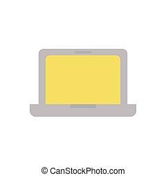 school laptop flat style icon