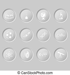 School lessons icon on a white buttons
