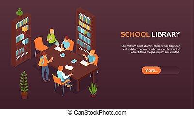 School Library Horizontal Banner