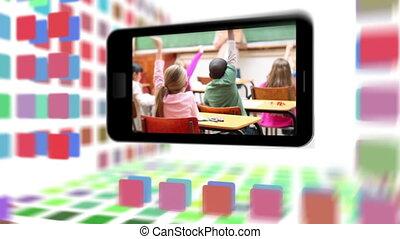 School life on a smartphone screen
