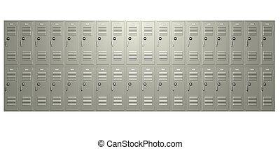 School Lockers Front