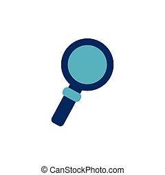 school magnifying glass flat style icon