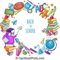 school, mal, frame, back