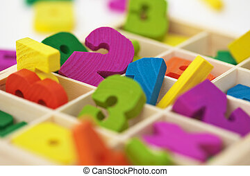 School material for arithmetics teaching