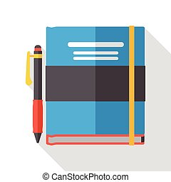 school notebook flat icon