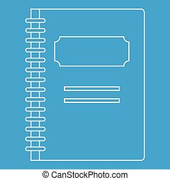 School notebook icon, outline style