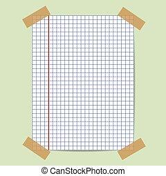 School notebook paper icon. Vector illustration