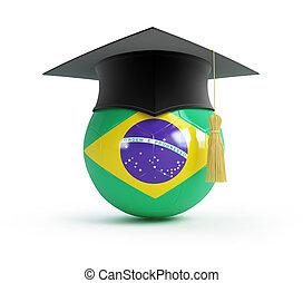School of Brazilian football on a white background