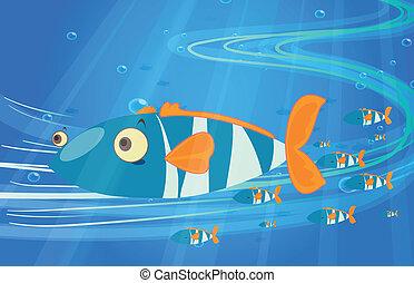 School of fish in the sea