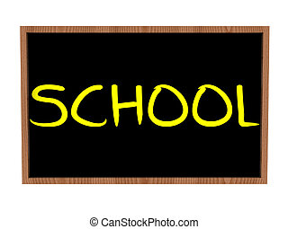 school on blackboard