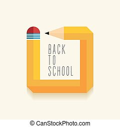 school, ontwerp, back, creatief