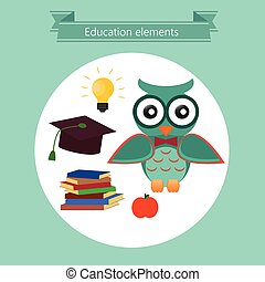 school, opleiding, iconen