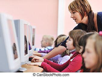 school, opleiding, informatietechnologie, kinderen