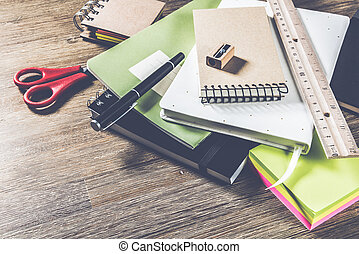 School or business concept with agenda