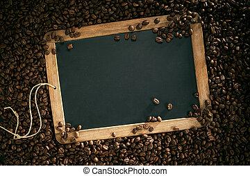 school, ouderwetse , lei, koffie boon, leeg, frame
