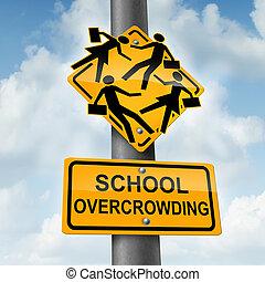 school, overcrowding