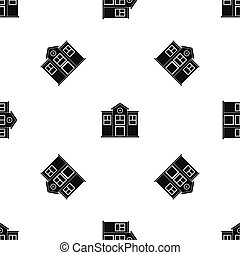 School pattern seamless black