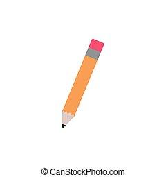 school pencil flat style icon