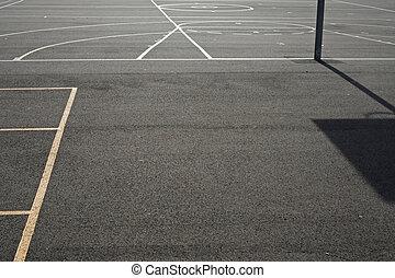 School playground markings - Sports markings on asphalt...