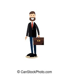 School principal concept vector illustration in flat style -...