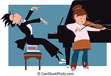 school, recital