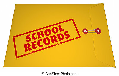 School Records Student File Transcripts Grades College...