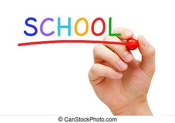 School Red Marker