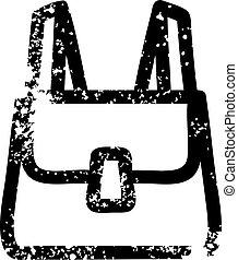 school satchel distressed icon symbol