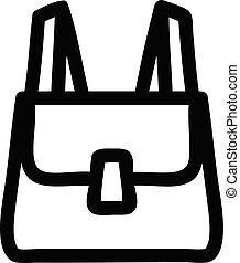 school satchel icon symbol